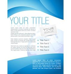 Creative business brochure design vector