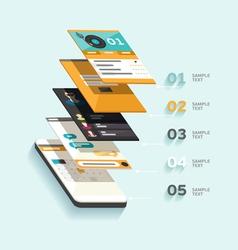 Design interface vector image
