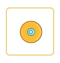 Disk icon simple style vector image