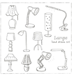 Doodle Set of lamps vector image