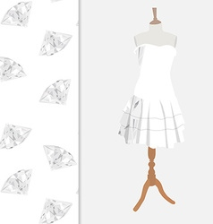 Dress with diamond pattern vector