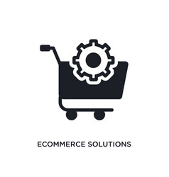 Ecommerce solutions isolated icon simple element vector