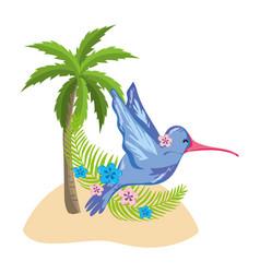 Exotic bird and summer vector