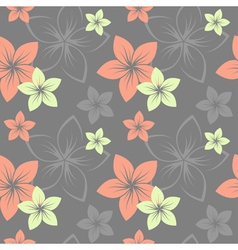Frangipani pattern grey vector
