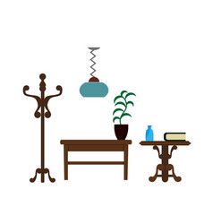 furniture pieces living room lamp hanger and vector image