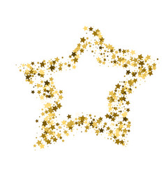 golden star banner simple form template card vip vector image