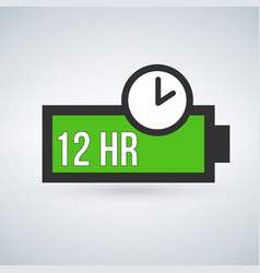 green battery life time icon flat style isolated vector image