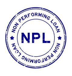 Grunge blue npl word abbreviation non vector
