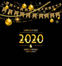 Happy new year 2020 background vector