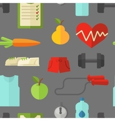Healthy lifestyle wellness concept vector image