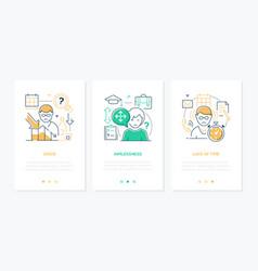 Human psychological problems line design style web vector