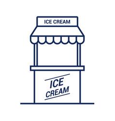ice cream kiosk icon on white background vector image