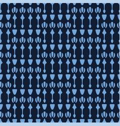 Indigo blue geometric ornamental arrow pattern vector