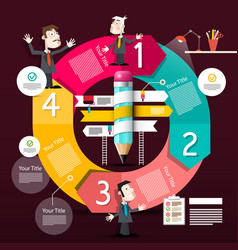 infographic design infographics circle diagram vector image