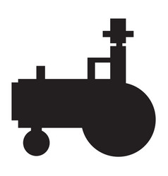 isolated tractor icon vector image
