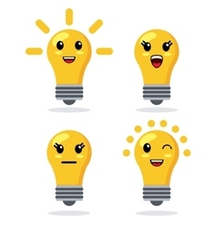 Kawaii icon light bulb Cartoon design vector image