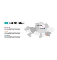 kazakhstan map infographic template slide vector image