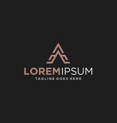 letter a logo design inspiration vector image