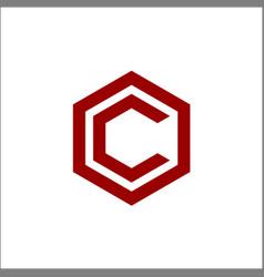 Letter c hexagon logo vector