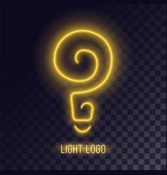Light spiral neon design vector