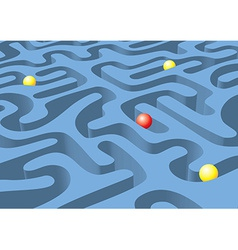 Maze with the balls traveling vector image