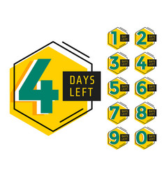Modern number days left countdown banner vector