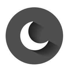 Nighttime moon icon in flat style lunar night vector