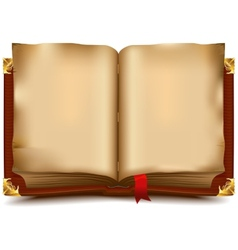 Old open book vector
