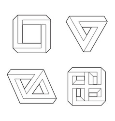 paradox impossible geometry symbols vector image