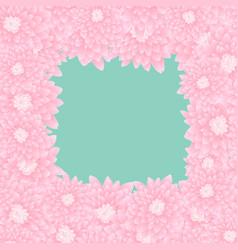 Pink chrysanthemum border vector