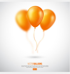 realistic 3d glossy ballons vector image