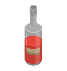 red wine bottle icon isometric style vector image