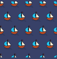 sailboats seamless background summer vector image