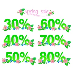 Sale discount set with percents vector