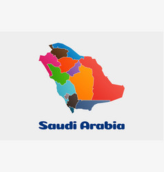 saudi arabia political map logo vector image