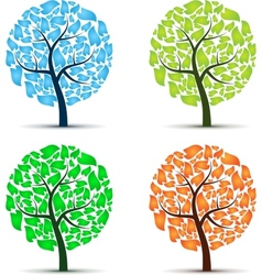 Seasons tree vector image