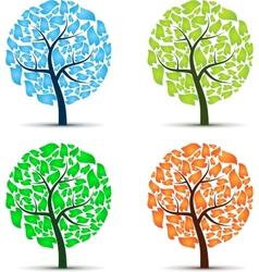 Seasons tree vector