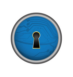 Security abstract lock digital vector
