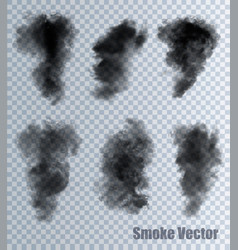 Smoke on transparent background vector