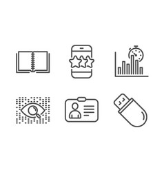 Star artificial intelligence and id card icons vector