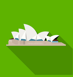 Sydney opera house icon in flat style isolated on vector