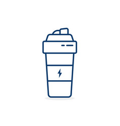 Thin line fit shaker cup icon vector