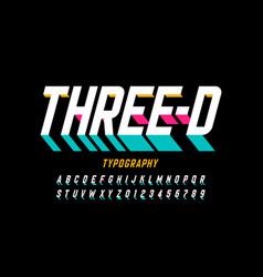 Three-dimensional style modern font design vector
