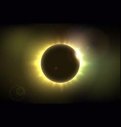 Total solar eclipse vector