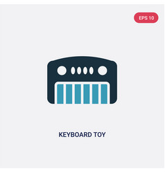 Two color keyboard toy icon from toys concept vector