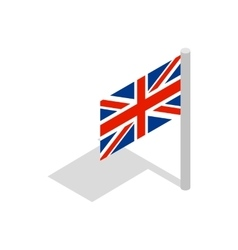 UK flag icon isometric 3d style vector