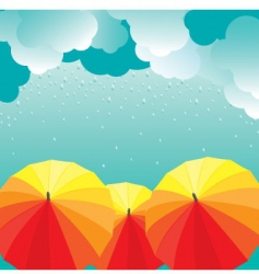 Umbrellas illustration vector