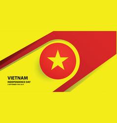 vietnam independence day background vector image