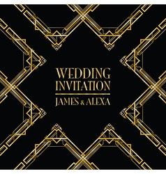 wedding invitation art deco vector image