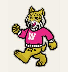 Wildcats school athletic mascot vector